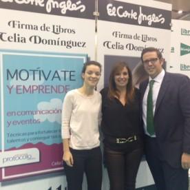 Celia Domínguez con miembros de Ajev